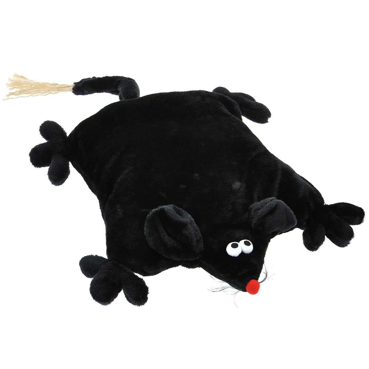Лежанка для кошек I.P.T.S. Мышь, цвет: черный, 45 см х 59 см х 9 см16751Лежанка I.P.T.S. Мышь станет излюбленным местом отдыха для вашего питомца, ведь уютное плюшевое спальное место по достоинству оценит даже самый привередливый кот. Лежанка имеет форму мыши и немного напоминает мягкую плоскую подушку. Ваш питомец сможет поиграть с длинным хвостиком или забавными усиками. Изделие будет одинаково хорошо смотреться как в гостиной, так и в другой комнате, поскольку вписывается в любой интерьер. Можно стирать в стиральной машине при 30°C. Размер лежанки: 45 см х 59 см х 9 см. Товар сертифицирован.