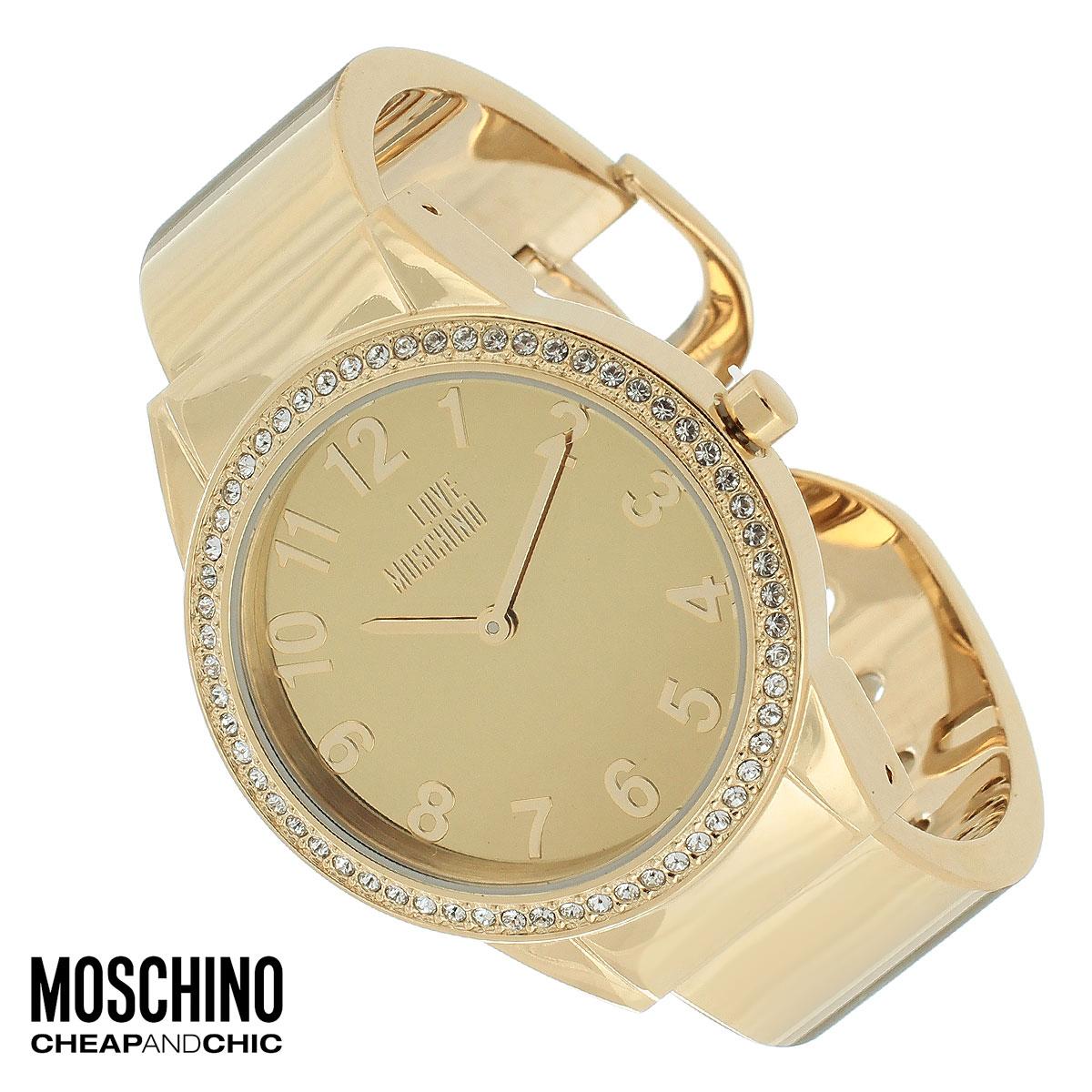 Часы женские наручные Moschino, цвет: золотой. MW0441BM8434-58AEНаручные часы от известного итальянского бренда Moschino - это не только стильный и функциональный аксессуар, но и современные технологи, сочетающиеся с экстравагантным дизайном и индивидуальностью. Часы Moschino оснащены кварцевым механизмом. Корпус выполнен из высококачественной нержавеющей стали с PVD-покрытием и по контуру циферблата оформлен стразами. Циферблат оформлен арабскими цифрами, надписью Love Moschino и защищен минеральным стеклом. Часы имеют две стрелки - часовую и минутную. Браслет часов выполнен из нержавеющей стали и имеет разъемную конструкцию.Часы упакованы в фирменную металлическую коробку с логотипом бренда. Часы Moschino благодаря своему уникальному дизайну отличаются от часов других марок своеобразными циферблатами, функциональностью, а также набором уникальных технических свойств.Каждой модели присуща легкая экстравагантность, самобытность и, безусловно, великолепный вкус. Характеристики: Диаметр циферблата: 3 см.Размер корпуса: 3,7 см х 4,4 см х 0,9 см.Длина браслета (с корпусом): 13,5 см.Ширина браслета: 1,6 см.