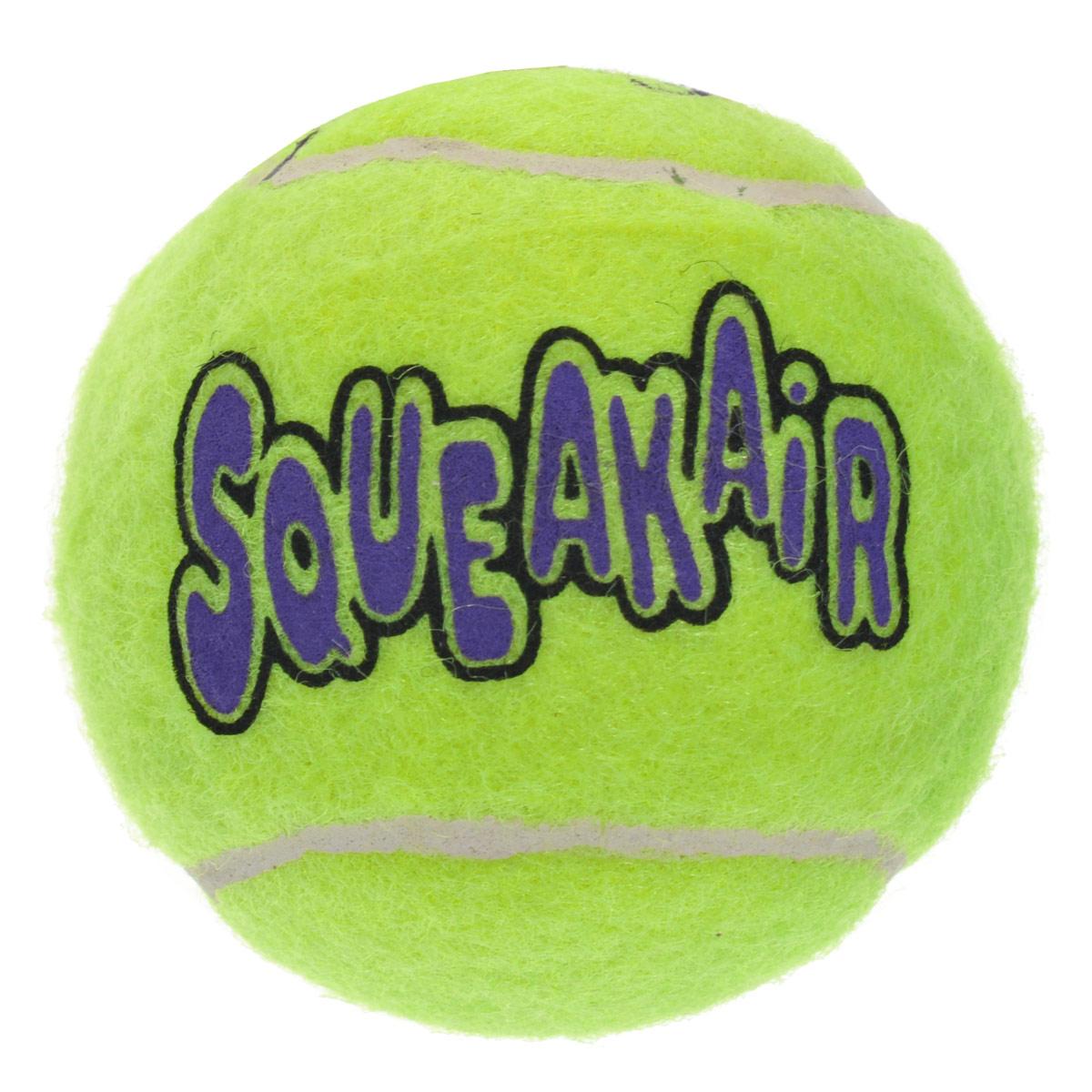 Игрушка для собак Kong Air Теннисный мяч. AST2B0120710Игрушка для собак Kong Air Теннисный мяч предназначена для собак средних пород весом от 5 до 15 кг. Эта игрушка - на 100% настоящие теннисные мячи в различных забавных формах и размерах. Такой мячик имеет непредсказуемую траекторию при отскакивании от земли и может плавать на поверхности воды. Игрушка выполненная из материала, не вредящего зубам собаки в форме теннисного мячика, при надавливании или захвате пастью пищит.