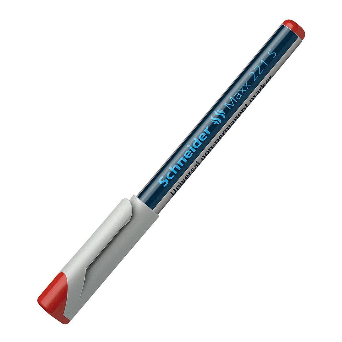 Универсальный non-permanent маркер Maxx 221, (S-0,4 мм), красный.S125/2 S125-01/2