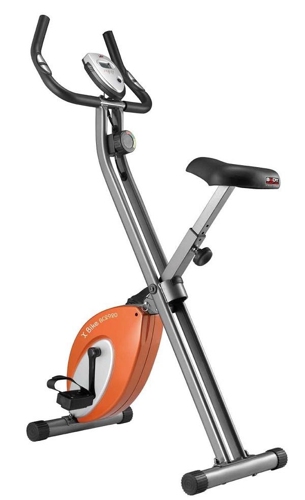 Велотренажер Body Sculpture, цвет: серый, оранжевый, 70 см х 50 см х 115 см