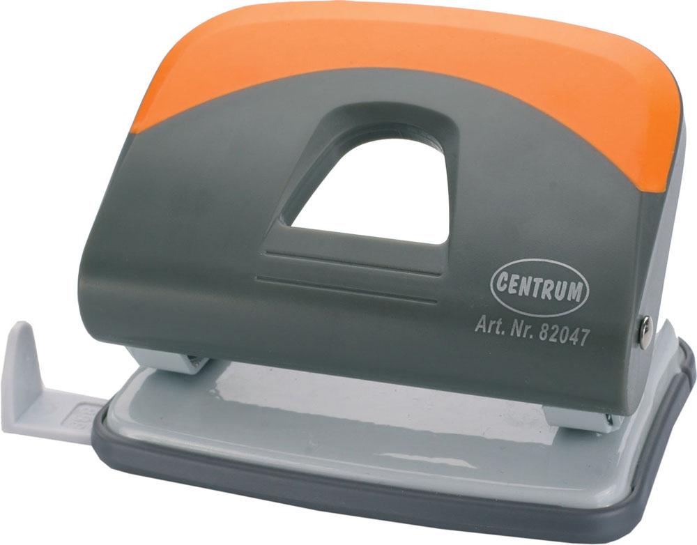 Дырокол Centrum, на 25 листов, цвет: серый, оранжевый. 82047FS-00264Удобный и практичный дырокол Centrum - незаменимый офисный инструмент. Металлический дырокол предназначен для одновременной перфорации до 25 листов бумаги. Для удобства оснащен линейкой-направляющей с разметкой для документов различных форматов, а также имеет съемный резервуар для обрезков бумаги, встроенный в основание. Дырокол обладает хорошей устойчивостью и не скользит по поверхности стола. Дырокол - необходимый инструмент для любого, кто работает с большими объемами данных, он позволяет быстро и легко перфорировать документы для последующего подшивания их в папки. Благодаря дыроколу Centrum, ваши бумаги и ценные документы всегда будут организованы.
