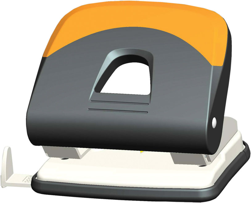Дырокол Centrum, на 30 листов, цвет: серый, оранжевый. 83418FS-36052Удобный и практичный дырокол Centrum - незаменимый офисный инструмент. Металлический дырокол предназначен для одновременной перфорации до 30 листов бумаги. Для удобства оснащен линейкой-направляющей с разметкой для документов различных форматов, а также имеет съемный резервуар для обрезков бумаги, встроенный в основание. Дырокол обладает хорошей устойчивостью и не скользит по поверхности стола. Дырокол - необходимый инструмент для любого, кто работает с большими объемами данных, он позволяет быстро и легко перфорировать документы для последующего подшивания их в папки. Благодаря дыроколу Centrum, ваши бумаги и ценные документы всегда будут организованы.