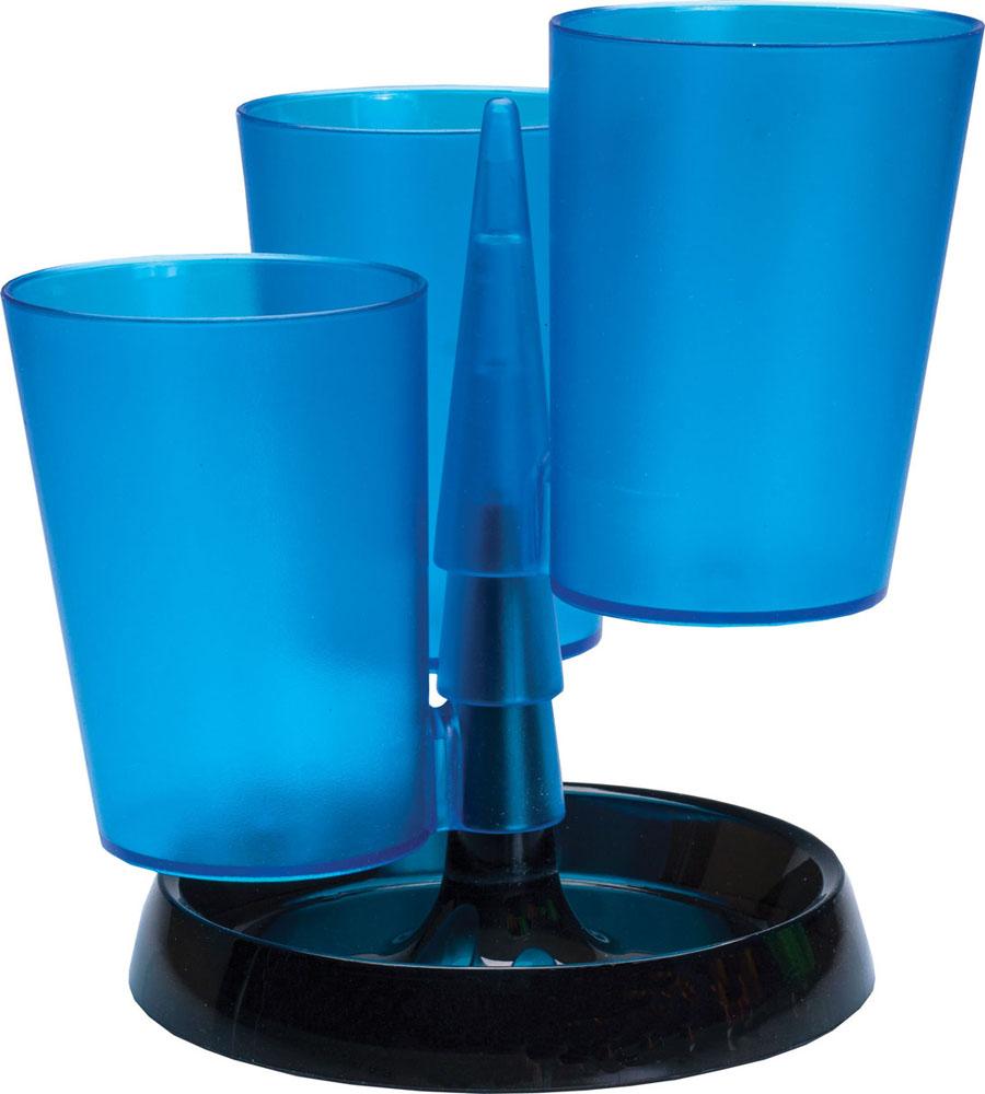 Centrum Подставка для канцелярских принадлежностей цвет синийFS-00102Подставка для канцелярских принадлежностей Centrum - неотъемлемый атрибут рабочего стола дома или в офисе.Подставка изготовлена из высококачественного пластика и имеет 3 отделения в виде стаканов, которые собираются на подставку. Подставка выполнена из непрозрачного пластика и благодаря широкому дну обеспечивает необходимую устойчивость.Такая подставка станет практичным и функциональным элементом вашего рабочего стола, благодаря ей канцелярские принадлежности всегда будут под рукой.УВАЖАЕМЫЕ КЛИЕНТЫ! Обращаем ваше внимание, что товар поставляется в цветовом ассортименте. Поставка осуществляется в зависимости от наличия на складе.