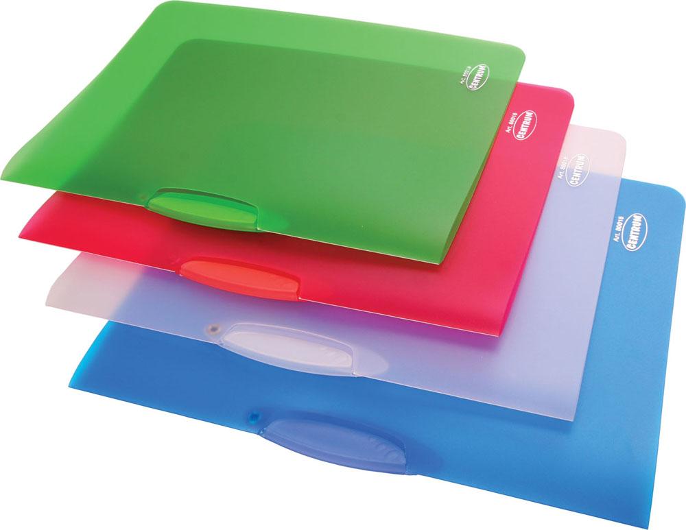 Папка с клипом Centrum, прозрачная, цвет: синий. Формат А4, 4 штFS-36052Папка с клипом Centrum - это удобный и практичный офисный инструмент, предназначенный для хранения и транспортировки неперфорированных рабочих бумаг и документов формата А4.Папка изготовлена из прочного прозрачного пластика толщиной 0,45 мм и оснащена боковым поворотным клипом, позволяющим фиксировать неперфорированные листы. В комплект входят 4 папки зеленого, голубого, белого и малинового цветов. Папка - это незаменимый атрибут для студента, школьника, офисного работника. Такая папка практична в использовании и надежно сохранит ваши документы и сбережет их от повреждений, пыли и влаги.