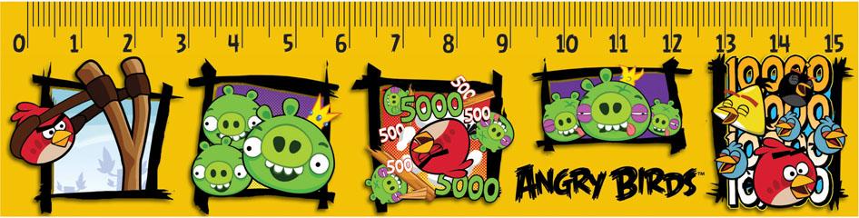 Линейка Centrum Angry Birds, 15 см, 10 шт84495Линейка Centrum Angry Birds обязательно придется по вкусу любому поклоннику знаменитой игры Angry Birds. Она выполнена из прочного пластика и оформлена изображениями сердитых птиц и их постоянных соперников - зеленых свинок, с двух сторон. Линейка имеет сантиметровую шкалу до 15 см. Цифры нанесены крупным шрифтом и не вызывают затруднений при чтении. В комплект входят 10 линеек.Линейка - это незаменимый атрибут, необходимый каждому школьнику или студенту, упрощающий измерение и обеспечивающий ровность проводимых линий. А с линейкой Angry birds учиться будет интересно и весело!