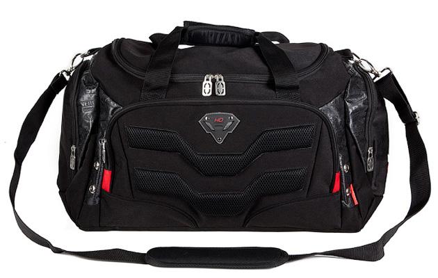 Сумка спортивная Hatber Protector, цвет: черный72523WDСумка спортивная Hatber Protector - это стильная вместительная сумка, которая придется по вкусу любому. Сумка выполнена из плотного высококачественного твила. Внутри одно вметительное отделение, закрывающуюся на пластиковую застежку-молнию. В комплекте регулируемая съемная лямка через плечо. Вместительный карман на фронтальной стенке, закрывающийся на пластиковую застежку-молнию. Рюкзак снабжен двумя боковыми карманами.Длина регулируемого ремня: 91-131 см.