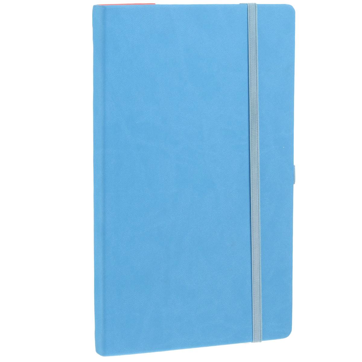 Записная книжка Erich Krause Festival, цвет: голубой, 96 листов72523WDЗаписная книжка Erich Krause Festival - это дополнительный штрих к вашему имиджу. Демократичная в своем содержании, книжка может быть использована не только для личных пометок и записей, но и как недатированный ежедневник. Надежная твердая обложка из плотного приятного на ощупь картона сохранит ее в аккуратном состоянии на протяжении всего времени использования. Плотная в линейку бумага белого цвета, закладка-ляссе, практичные скругленные углы, эластичная петелька для ручки и внутренний бумажный карман на задней обложке - все это обеспечит вам истинное удовольствие от письма. В начале книжки имеется страничка для заполнения личных данных владельца, четыре страницы для заполнения адресов, телефонов и интернет-почты и четыре страницы для заполнения сайтов и ссылок. Благодаря небольшому формату книжку легко взять с собой. Записная книжка плотно закрывается при помощи фиксирующей резинки.