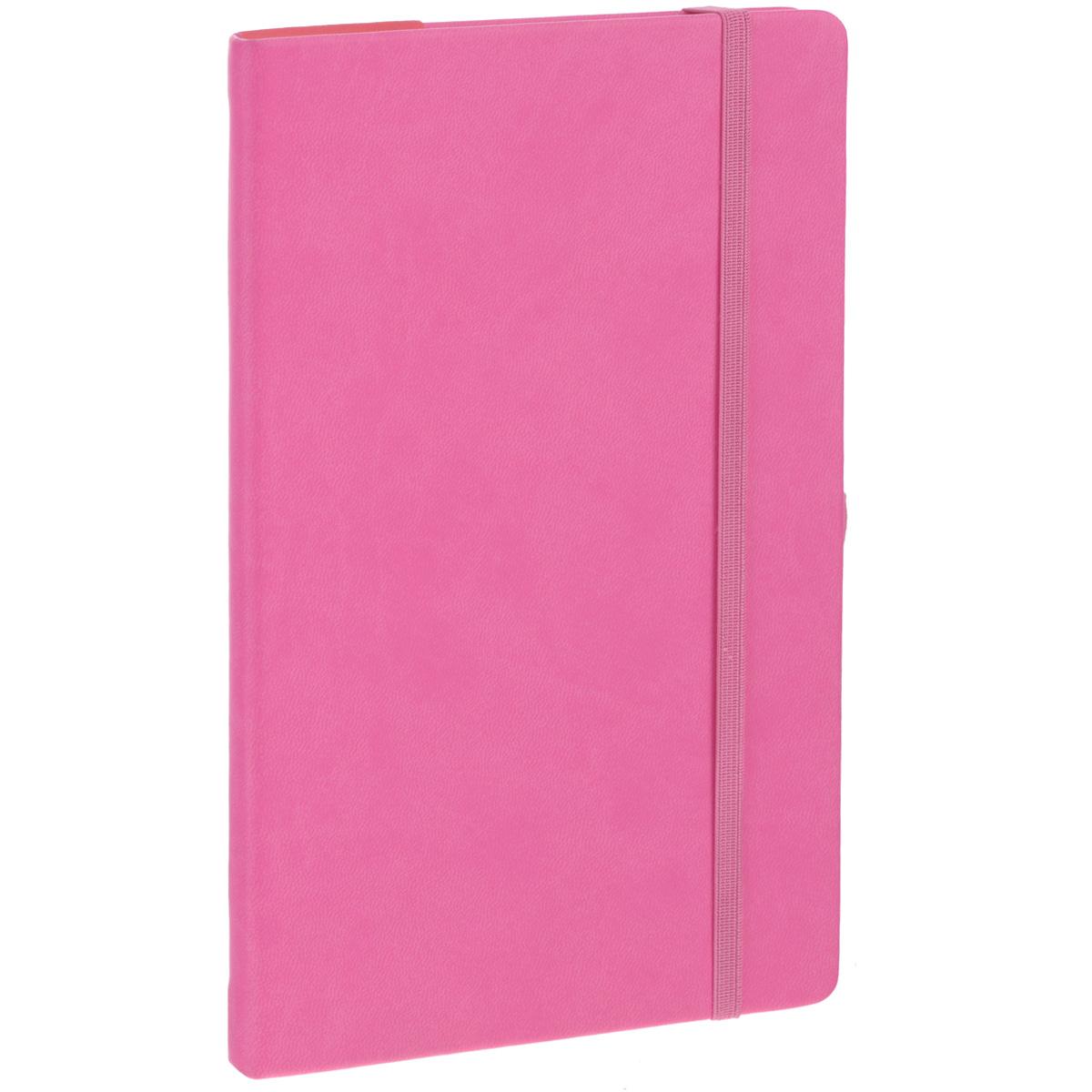 Записная книжка Erich Krause Festival, цвет: розовый, 96 листов36757Записная книжка Erich Krause Festival - это дополнительный штрих к вашему имиджу. Демократичная в своем содержании, книжка может быть использована не только для личных пометок и записей, но и как недатированный ежедневник. Надежная твердая обложка из плотного приятного на ощупь картона сохранит ее в аккуратном состоянии на протяжении всего времени использования. Плотная в линейку бумага белого цвета, закладка-ляссе, практичные скругленные углы, эластичная петелька для ручки и внутренний бумажный карман на задней обложке - все это обеспечит вам истинное удовольствие от письма. В начале книжки имеется страничка для заполнения личных данных владельца, четыре страницы для заполнения адресов, телефонов и интернет-почты и четыре страницы для заполнения сайтов и ссылок. Благодаря небольшому формату книжку легко взять с собой. Записная книжка плотно закрывается при помощи фиксирующей резинки.