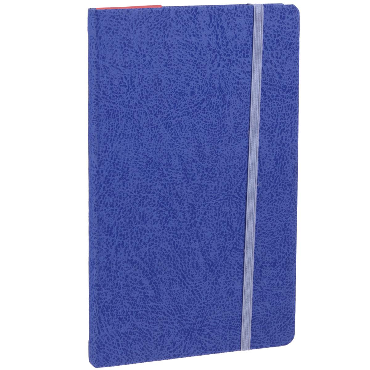 Записная книжка Erich Krause Perfect, цвет: синий, 96 листовКЗФ6801278Записная книжка Erich Krause Perfect - это дополнительный штрих к вашему имиджу. Демократичная в своем содержании, книжка может быть использована не только для личных пометок и записей, но и как недатированный ежедневник. Надежная твердая обложка из плотного картона с тиснением под кожу сохранит ее в аккуратном состоянии на протяжении всего времени использования. Плотная в линейку бумага белого цвета, закладка-ляссе, практичные скругленные углы, эластичная петелька для ручки и внутренний бумажный карман на задней обложке - все это обеспечит вам истинное удовольствие от письма. В начале книжки имеется страничка для заполнения личных данных владельца, четыре страницы для заполнения адресов, телефонов и интернет-почты и четыре страницы для заполнения сайтов и ссылок. Благодаря небольшому формату книжку легко взять с собой. Записная книжка плотно закрывается при помощи фиксирующей резинки.