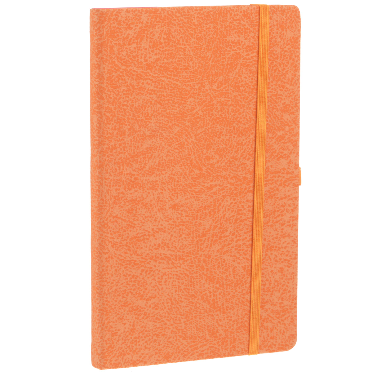 Записная книжка Erich Krause Perfect, цвет: оранжевый, 96 листов72523WDЗаписная книжка Erich Krause Perfect - это дополнительный штрих к вашему имиджу. Демократичная в своем содержании, книжка может быть использована не только для личных пометок и записей, но и как недатированный ежедневник. Надежная твердая обложка из плотного картона с тиснением под кожу сохранит ее в аккуратном состоянии на протяжении всего времени использования. Плотная в линейку бумага белого цвета, закладка-ляссе, практичные скругленные углы, эластичная петелька для ручки и внутренний бумажный карман на задней обложке - все это обеспечит вам истинное удовольствие от письма. В начале книжки имеется страничка для заполнения личных данных владельца, четыре страницы для заполнения адресов, телефонов и интернет-почты и четыре страницы для заполнения сайтов и ссылок. Благодаря небольшому формату книжку легко взять с собой. Записная книжка плотно закрывается при помощи фиксирующей резинки.
