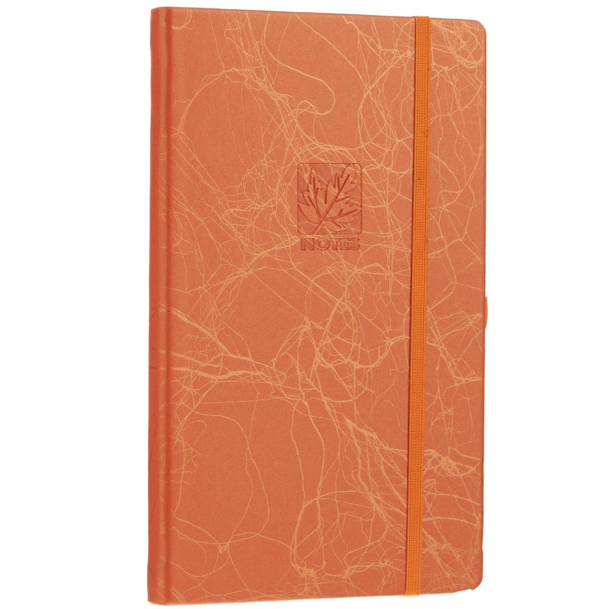 Записная книжка Erich Krause Scribble, цвет: оранжевый, 96 листов72523WDЗаписная книжка Erich Krause Scribble - это дополнительный штрих к вашему имиджу. Демократичная в своем содержании, книжка может быть использована не только для личных пометок и записей, но и как недатированный ежедневник. Надежная твердая обложка из плотного картона, обтянутого искусственной кожей, сохранит ее в аккуратном состоянии на протяжении всего времени использования. Плотная в линейку бумага белого цвета, закладка-ляссе, практичные скругленные углы, эластичная петелька для ручки и внутренний бумажный карман на задней обложке - все это обеспечит вам истинное удовольствие от письма. В начале книжки имеется страничка для заполнения личных данных владельца, четыре страницы для заполнения адресов, телефонов и интернет-почты и четыре страницы для заполнения сайтов и ссылок. Благодаря небольшому формату книжку легко взять с собой. Записная книжка плотно закрывается при помощи фиксирующей резинки.