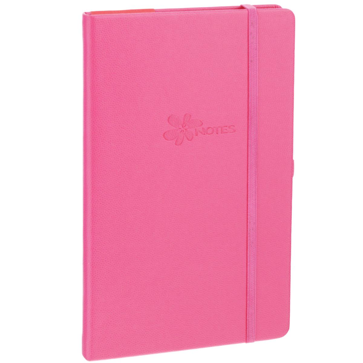 Записная книжка Erich Krause Flower, цвет: розовый, 96 листов36776Записная книжка Erich Krause Flower - это дополнительный штрих к вашему имиджу. Демократичная в своем содержании, книжка может быть использована не только для личных пометок и записей, но и как недатированный ежедневник. Надежная твердая обложка из плотного картона, обтянутого искусственной кожей с тиснением под рептилию, сохранит ее в аккуратном состоянии на протяжении всего времени использования. Плотная в линейку бумага белого цвета, закладка-ляссе, практичные скругленные углы, эластичная петелька для ручки и внутренний бумажный карман на задней обложке - все это обеспечит вам истинное удовольствие от письма. В начале книжки имеется страничка для заполнения личных данных владельца, четыре страницы для заполнения адресов, телефонов и интернет-почты и четыре страницы для заполнения сайтов и ссылок. Благодаря небольшому формату книжку легко взять с собой. Записная книжка плотно закрывается при помощи фиксирующей резинки.