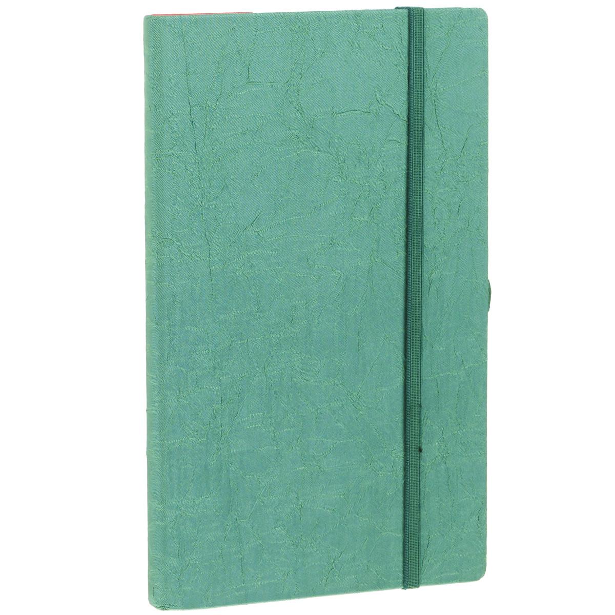 Записная книжка Erich Krause Perfect, цвет: изумрудный, 96 листов36780Записная книжка Erich Krause Tsarina - это дополнительный штрих к вашему имиджу. Демократичная в своем содержании, книжка может быть использована не только для личных пометок и записей, но и как недатированный ежедневник. Надежная твердая обложка из плотного картона, обтянутого текстильным материалом, сохранит ее в аккуратном состоянии на протяжении всего времени использования. Плотная в линейку бумага белого цвета, закладка-ляссе, практичные скругленные углы, эластичная петелька для ручки и внутренний бумажный карман на задней обложке - все это обеспечит вам истинное удовольствие от письма. В начале книжки имеется страничка для заполнения личных данных владельца, четыре страницы для заполнения адресов, телефонов и интернет-почты и четыре страницы для заполнения сайтов и ссылок. Благодаря небольшому формату книжку легко взять с собой. Записная книжка плотно закрывается при помощи фиксирующей резинки.