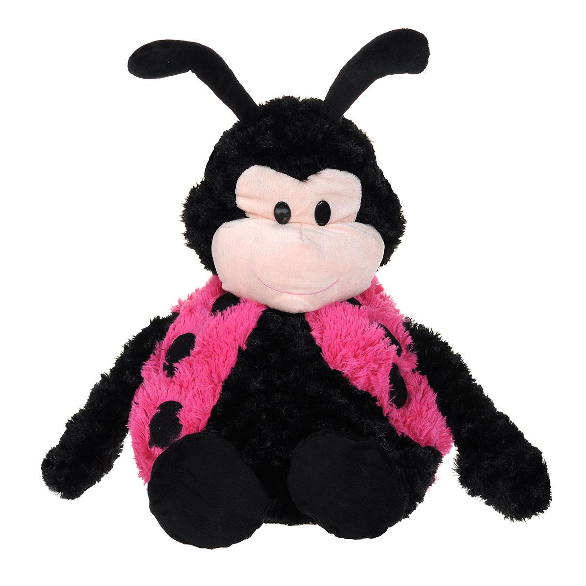 Мягкая игрушка-подушка Bradex Божья коровка, цвет: черный, розовый, бежевый стопперы bradex стоппер для дверей детский божья коровка