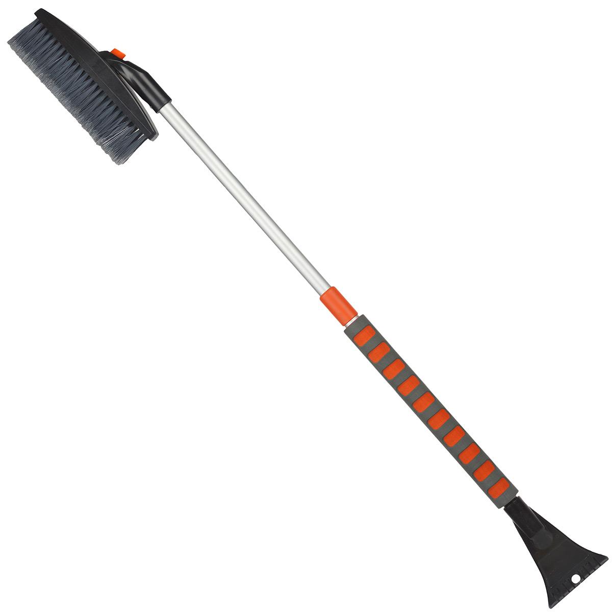 Щетка-сметка для снега Stels, со скребком, телескопическая, 82-110 смВетерок 2ГФЩетка-сметка Stels оснащена усиленной рукояткой из алюминиевого сплава с удлиненным мягким держателем. Густая распушенная щетина для бережной очистки снега с поверхности. Инструмент имеет мощный скребок с зубьями для дробления льда и кнопку для регулировки горизонтального/вертикального положения щетки.