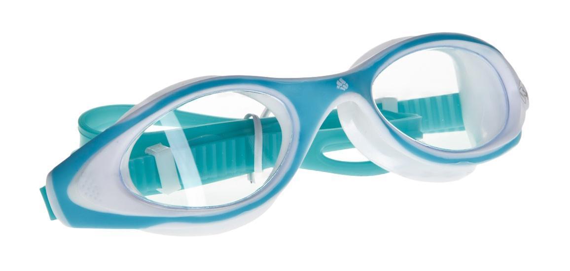 Очки для плавания MadWave Flame, цвет: бирюзовый, белый527Удобные очки MadWave Flame с широким углом обзора, идиально подходят для спорта и отдыха. Внедрение антифога в линзы капиллярным способом дает максимальную антизапотевающую защиту. Полировка линз обеспечивает кристальную чистоту изображения. Защита блокирует 100% вредного УФ-излучения по всему спектру (до 400 нм). В комплекте удобный чехол. Характеристики:Цвет: бирюзовый, белый. Материал: поликарбонат, силикон. Размер наглазника: 6 см х 4,5 см. Длина оправы: 16,5 см. Изготовитель: Китай. Размер упаковки: 18 см х 6 см х 4 см.