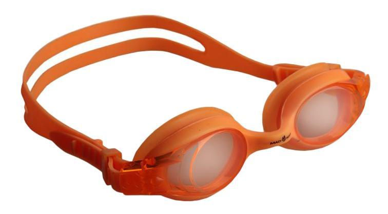 Очки для плавания MadWave Junior Autosplash, цвет: оранжевыйM0419 03 0 03W голубойMadWave Junior Autosplash - удобные юниорские очки для водных видов спорта и отдыха. Система автоматической регулировки ремешков. Защита от ультрафиолетовых лучей. Антизапотевающие стекла. Линзы из поликарбоната. Вид переносицы — моноблок. Силиконовый обтюратор и ремешок. Характеристики:Цвет: оранжевый. Материал: поликарбонат, силикон. Размер наглазника: 5,5 см х 4 см. Изготовитель: Китай. Размер упаковки: 17 см х 6 см х 3 см.