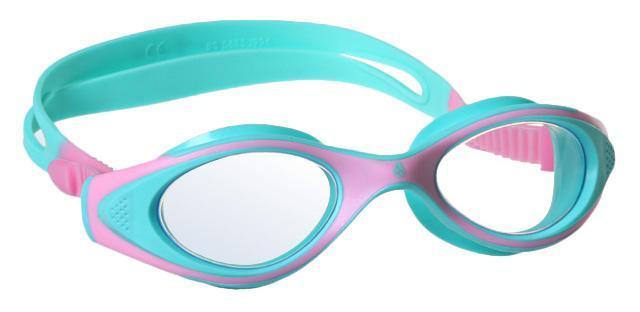 Очки для плавания MadWave Junior Flame, цвет: розовый, бирюзовый527Удобные классические юниорские очки для спорта и отдыха c автоматической системой регулировки ремешков на корпусе. Улучшенная антизапотевающая защита стекла благодаря внедрению антифога капиллярным способом. Защита от ультрафиолетовых лучей UV 400. Целлюлозополимерные линзы. Вид переносицы — моноблок. Рамка — полипропилен, обтюратор — термопластичная резина. Силиконовый ремешок.Комплектация:Очки.Чехол. Характеристики: Материал: силикон, пластик, резина. Размер очков: 15 см х 4 см. Цвет: розовый, бирюзовый. Размер упаковки: 17,5 см х 8 см х 6 см. Артикул: M0411 04 0 11W.