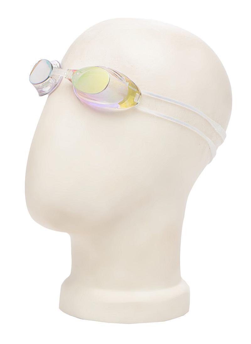 Очки для плавания MadWave Liquid Racing Mirror, цвет: желтый527Стартовые очки сертифицированные FINA (международная федерация плавания). Двойной силиконовый ремешок для надежной фиксации очков. Очки поставляются в виде набора. Линзы с зеркальным покрытием защищают глаза при плавании на открытой воде и в бассейнах с ярким освещением. Многоступенчатая перемычка позволяет легко настроить очки под нужный размер.Защита от ультрафиолетовых лучей. Антизапотевающие стекла. Линзы из поликарбоната. Вид переносицы - регулируемая многоступенчатая перемычка. Линзы без обтюратора. Характеристики: Материал: силикон, пластик. Размер маски: 16 см х 4 см. Цвет: желтый. Размер упаковки: 11,5 см х 8,5 см х 3,5 см. Артикул: M0453 02 0 06W.