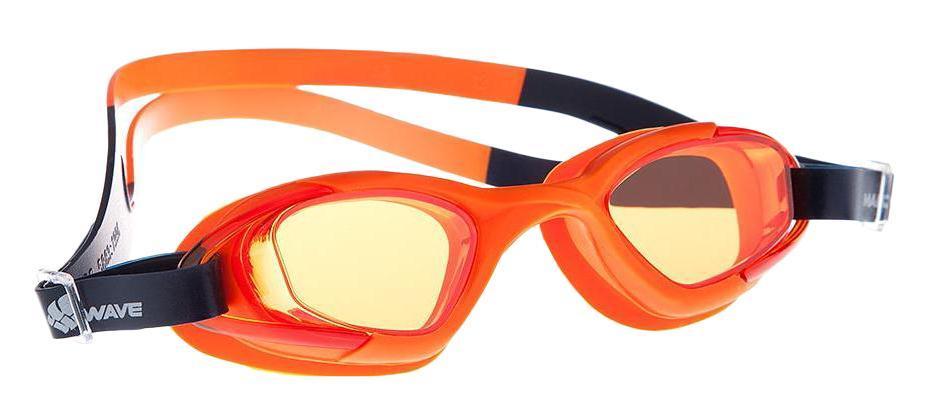Очки для плавания MadWave Junior MiBlack-Greena Multi II, цвет: оранжевый очки для плавания madwave simpler ii цвет красный