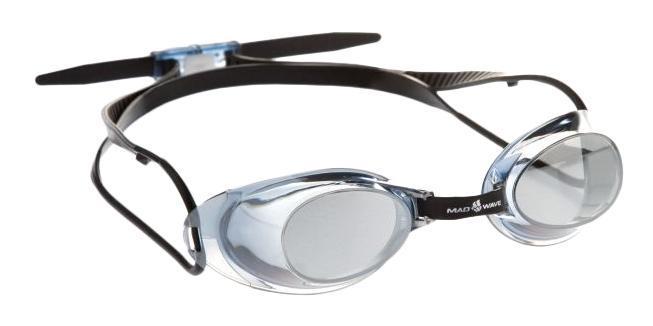 Очки для плавания MadWave Liquid Racing Mirror, цвет: зеленый