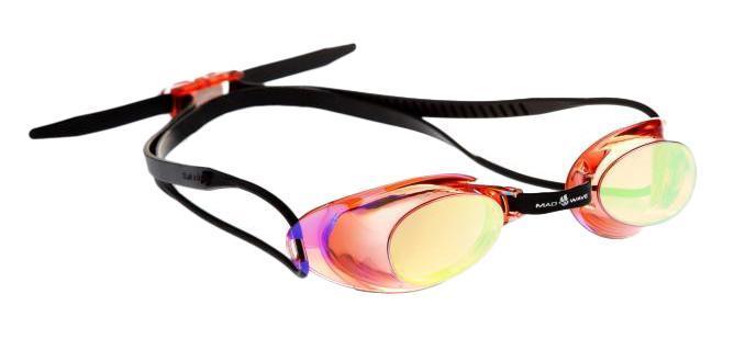 Очки для плавания MadWave Liquid Racing Mirror, цвет: красныйCE1514Стартовые очки сертифицированные FINA (международная федерация плавания). Двойной силиконовый ремешок для надежной фиксации очков. Очки поставляются в виде набора. Линзы с зеркальным покрытием защищают глаза при плавании на открытой воде и в бассейнах с ярким освещением. Многоступенчатая перемычка позволяет легко настроить очки под нужный размер.Защита от ультрафиолетовых лучей. Антизапотевающие стекла. Линзы из поликарбоната. Вид переносицы - регулируемая многоступенчатая перемычка. Линзы без обтюратора. Характеристики: Материал: силикон, пластик. Размер маски: 16 см х 4 см. Цвет: красный. Размер упаковки: 11,5 см х 8,5 см х 3,5 см. Артикул: M0453 02 0 05W.