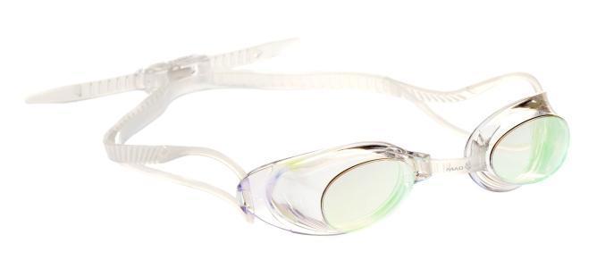 Очки для плавания MadWave Liquid Racing Mirror, цвет: прозрачный527Стартовые очки сертифицированные FINA (международная федерация плавания). Двойной силиконовый ремешок для надежной фиксации очков. Очки поставляются в виде набора. Линзы с зеркальным покрытием защищают глаза при плавании на открытой воде и в бассейнах с ярким освещением. Многоступенчатая перемычка позволяет легко настроить очки под нужный размер.Защита от ультрафиолетовых лучей. Антизапотевающие стекла. Линзы из поликарбоната. Вид переносицы - регулируемая многоступенчатая перемычка. Линзы без обтюратора. Характеристики: Материал: силикон, пластик. Размер маски: 16 см х 4 см. Цвет: прозрачный. Размер упаковки: 11,5 см х 8,5 см х 3,5 см. Артикул: M0453 02 0 00W.