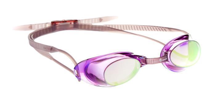 Очки для плавания MadWave Liquid Racing Mirror, цвет: фиолетовый
