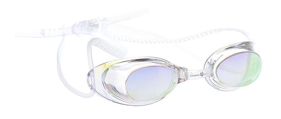 Очки для плавания MadWave Liquid Racing, цвет: прозрачный