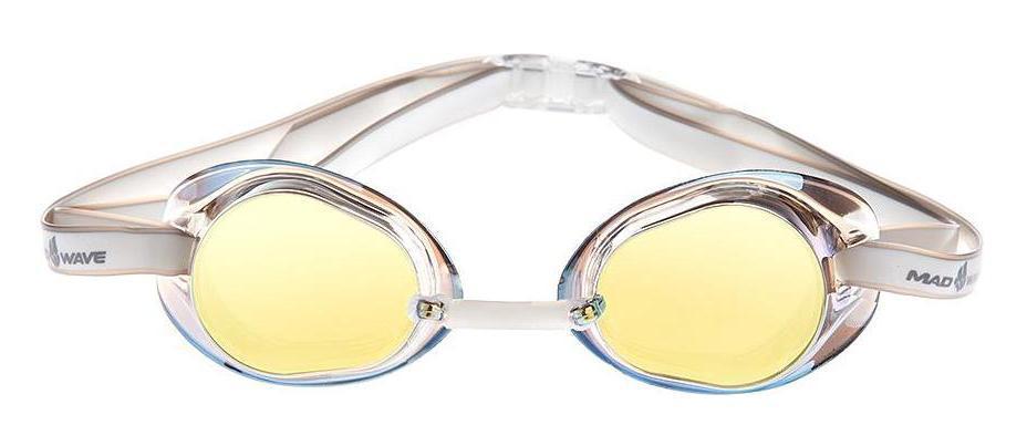 Очки для плавания стартовые MadWave Racer SW Mirror, цвет: желтыйBY4533Классические стартовые очки с зеркальным покрытием MadWave Racer SW Mirror. Двойной силиконовый ремешок с затылочной клипсой для надёжной фиксации очков. Линзы из поликарбоната без обтюратора с зеркальным покрытием. Антизапотевающие стекла. Защита от ультрафиолетовых лучей. Настраиваемая индивидуально трубчатая переносица позволяет собрать очки под любой тип лица. Характеристики:Цвет: желтый. Материал: поликарбонат, силикон. Размер наглазника: 6 см х 3,5 см. Изготовитель: Китай. Размер упаковки: 11 см х 9 см х 4 см.