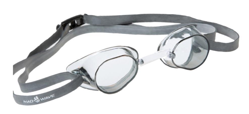 Очки для плавания стартовые MadWave Racer SW, цвет: белыйJ504N-9093Классические стартовые очки MadWave Racer SW. Двойной силиконовый ремешок с затылочной клипсой для надёжной фиксации очков. Линзы из поликарбоната без обтюратора. Антизапотевающие стекла. Защита от ультрафиолетовых лучей. Настраиваемая индивидуально трубчатая переносица позволяет собрать очки под любой тип лица. Характеристики:Цвет: белый. Материал: поликарбонат, силикон. Размер наглазника: 6 см х 3,5 см. Изготовитель: Китай. Размер упаковки: 11 см х 9 см х 4 см.