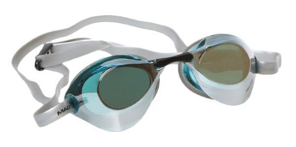 Очки для плавания стартовые MadWave Turbo Racer II Mirror, цвет: черный очки для плавания madwave simpler ii цвет красный