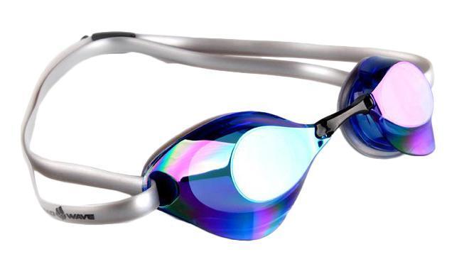 Очки для плавания стартовые MadWave Turbo Racer II Rainbow, цвет: синий очки для плавания madwave simpler ii цвет красный