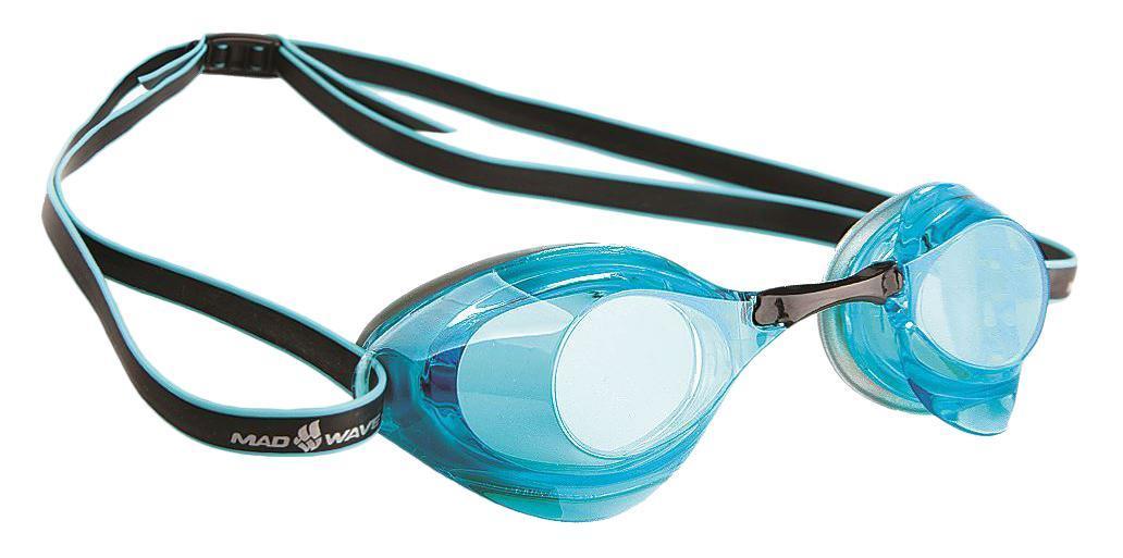 Очки для плавания стартовые MadWave Turbo Racer II, цвет: серый, голубой527Очки для плавания стартовые MadWave Turbo Racer II. Гидродинамическая форма линз для уменьшения сопротивления. Низкопрофильный силиконовый обтюратор для комфорта. Двойной силиконовый ремешок с затылочной клипсой для надёжной фиксации очков. 3 сменных переносицы для идеальной настройки. Антизапотевающие линзы из поликарбоната с защитой от ультрафиолетовых лучей. Предназначены для тренировок и стартов. Характеристики:Цвет: серый, голубой. Материал: поликарбонат, силикон. Размер наглазника: 6 см х 4 см. Изготовитель: Китай. Размер упаковки: 11 см х 9 см х 4 см.