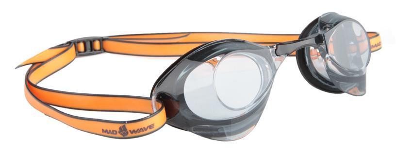 Очки для плавания стартовые MadWave Turbo Racer II, цвет: черныйM0421 06 0 04WОчки для плавания стартовые MadWave Turbo Racer II. Гидродинамическая форма линз для уменьшения сопротивления. Низкопрофильный силиконовый обтюратор для комфорта. Двойной силиконовый ремешок с затылочной клипсой для надёжной фиксации очков. 3 сменных переносицы для идеальной настройки. Антизапотевающие линзы из поликарбоната с защитой от ультрафиолетовых лучей. Предназначены для тренировок и стартов. Характеристики:Цвет: черный. Материал: поликарбонат, силикон. Размер наглазника: 6 см х 4 см. Изготовитель: Китай. Размер упаковки: 11 см х 9 см х 4 см.