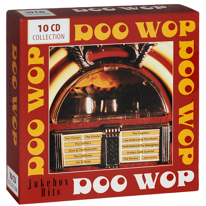 Содержание: CD 1: Doo Wop. Jukebox Hits   01.  The Four Tops - Ain't That Love  02.  The Chimes - Once In A While  03.  The Golden Gate Quartet - Atom and Evil  04.  The Drifters - Drip Drop  05.  The Sheppards - Island Of Love  06.  Deek Watson & His Down Dodds - Sentimental Reasons  07.  The Pastels - So Far Away  08.  The Coasters - Zing, Went the Strings of My Heart  09.  Lee Andrews & The Hearts - Try The Impossible  10.  Dusty Brooks & His Four Tones - Play Jackpot  11.  The Clovers - Easy Lovin'  12.  The Collegians - Zoom, Zoom, Zoom  13.  The Channels - My Love Will Never Die  14.  The Kodoks - Oh Gee, Oh Gosh  15.  The Cats and the Fiddle - I Miss You So  16.  The Danleers - One Summer Night  17.  The Avalons - Hearts Desire  18.  The Five Dollars - My Baby-O  19.  The Impressions - Senorita I Love You  20.  The Ink Spots - If I Didn't CareCD 2: Doo Wop. Jukebox Hits   01.  The Paragons - Florence  02.  The Miracles - Who's Lovin' You  03.  Norman Fox & The Rob-Roys - Tell Me Why  04.  The Basin Street Boys - I Sold My Heart To The Junk Man  05.  The Cadillacs - My Girlfriend  06.  Huey Piano Smith & The Clowns - Dearest Darling (You're The One)  07.  The Solitaires - Walking Along  08.  The Spaniels - Stormy Weather  09.  The Cleftones - Lover Boy  10.  The Melody Masters - My Baby 11.  The Valentines - Don't Say Goodnight  12.  The Videos - Trickle, Trickle  13.  The El Torros - Dance With Me  14.  The Fiestas - Dollar Bill  15.  The Turbans - Congratulations  16.  The Four Aces - I Wonder, I Wonder, I Wonder  17.  Jan & Dean - Judy  18.  The Dells - Dry Your Eyes  19.  Stanley Mitchell & The Tornados - Four O'clock In The Morning (Tucker)  20.  The Four Vagabonds - P. S. I Love YouCD 3: Doo Wop. Jukebox Hits   01.  Dion & The Belmonts - I Can't Go On  02.  The Rockets - Loch Lomond (Traditional)  03.  The Jaguars - The Way You Look Tonight  04.  Little Jimmy & The Tops - Puppy Love  05.  The Five Bars - I'M All Dressed Up With A  Broken Heart 1947  06.  The Channels - The Closer You Are  07. The Crests - Step By Step  08.  The Dells - Why Do You Have To Go  09.  Jimmy Castor & The Juniors - I Promise  10.  The Scamps - Solitude 1947  11.  The Cadillacs - Zoom  12.  The Fiestas - Good News  13.  The Bop-Chords - Castle In The Sky  14.  The Jesters- Sally  15.  The Big Three Trio - After Awhile  16.  The Spaniels - You Gave Me Peace Of Mind  17.  The Skyliners - Pennies From Heaven  18.  Lewis Lymon & The Teenchords - I'm So Happyc  19.  The Deep River Boys - Recess In Heaven  20.  Jan & Dean - My Heart Sings (Alpert/Adler)CD 4: Doo Wop. Jukebox Hits   01.  The Boss-Tones - Moptitty Mope   02.  The Chaperones - Cruise To The Moon   03.  The Four Blues - It Takes A Long Tall Brown Skinned Gal   04.  The Chips - Rubber Bisquit   05.  Dean & Marc - Tell Him No   06.  Jimmy Jones & The Pretenders - Lover   07.  The Pearls - Let?S You And I Go Steady   08.  The Four Tunes - You're Heartless   09.  The Midnighters - Don't Change Your Pretty Ways   10.  Jan & Dean - Oh Julie   11.  The Regals - Got The Water Boiling   12.  The Five Royales - I'm With You   13.  The Wrens - Come Back My Love   14.  The Harptones - Life Is But A Dream   15.  The Charioteers - A Kiss And A Rose   16.  The Mellows - Smoke From Your Cigarette   17.  The Desires - Let It Please Be You    18.  Don Julian & The Meadowlarks - Heaven And Paradise   19.  The Syncopaters - River Stay Away From My Door   20.  The Valentines - The Woo Woo Train  CD 5: Doo Wop. Jukebox Hits   01.  The Fantastics - There Goes My Love  02.  The Ravens - Count Every Star  03.  The Checkers - White Cliffs Of Dover  04.  The Distants - Come On  05.  The Moonglows - Baby Please  06.  The Robins - Turkey Hop  07.  Jan & Dean - You're On My Mind  08.  The Robins - (Now And Then There's) A Fool Such As I  09.  The Beavers - I'd Rather Be Wrong Than Blue10.  The Satintones - My Beloved  11.  The Harp-Tones - A Sunday Kind Of Love  12.  The Clovers - When You Come Back To Me  13.  The Vocaleers - Be True  14.  The Danleers - If You Don't Care  15.  The Flamingos - Golden Teardrops  16.  The Cap-Tans - Chief, Turn The Hose On Me  17.  Billy Bunn & His Buddies - That?S When Your Heartaches Begin  18.  The Serenaders - But I Forgive You  19.  The Delta Rhythm Boys - If You See The Tears In My Eyes  20.  The Castelles - My Girl Awaits MeCD 6: Doo Wop. Jukebox Hits   01. The Fascinators - Oh Rose Marie  02.  The Vibrations - So Blue  03.  The Orioles - At Night (Morris)  04.  Hank Ballard & The Midnighters (As The Royals) - Every Beat Of My Heart  05.  Jan & Dean - Jeanette Get Your Hair Done  06.  The Three Riffs - Jumping Jack 07.  The Larks - Hold Me  08.  The Four Buddies - Sweet Slumber  09. The Four Tunes - Old Fashioned Love  10.  The Four Buddies - You're Part Of Me  11.  The Ravens - Gotta Find My Baby  12.  The Cadillacs - I'm Willing  13.  The Striders - Cool Saturday Night  14.  The Orioles - Don't Cry Baby 15.  The Larks - My Reverie  16.  The Colemans - I Don't Mind Being All Alone  17.  The Hollywood Four Flames - Wine  18.  The Sonics - This Broken Heart  19.  The Four Knights - That's The Way It's Gonna Be  20.  The Ravens - I ?Don't Have To Ride No MoreCD 7: Doo Wop. Jukebox Hits   01.  The Masterkeys - Mister Blues  02.  The Four Tunes - Let's Give Love  03.  Bobby Nunn - That's What The Good Book Says 04.  The Starlites - Valarie  05.  The Four Jacks - The Last Of The Good Rocking Men  06.  Jan & Dean - Cindy  07.  The Marshall Brothers - Who'll Be The Fool From Now On  08.  The Marylanders - Make Me Thrill Again  09.  The Carols - Please Believe In Me  10.  Billy Bunn & His Buddies - I'm Afraid  11.  Patti & Margie - No No Baby  12.  The Sultans - Lemon Squeezing Daddy  13.  The Kalin Twins - Jumpin' Jack  14.  The Four Blazes - Rug Cutter  15.  The Five Larks - My Heart Cries For You  16.  The Heartbreakers - Heartbreaker  17.  Jan & Dean - Don't Fly Away  18.  The Sultans - Don't Be Angry  19.  The Flames - Young Girl  20.  The Diamonds - A Beggar For Your KissesCD 8: Doo Wop. Jukebox Hits   01.  The Moonglows - Mama Loocie  02.  Lee Andrews & The Hearts - Maybe You'll Be There  03.  The Du-Droppers - Can't Do Sixty No More  04.  King Odom Four - Lover Come Back To Me  05.  The Four Dots - My Dear  06.  Jan & Dean - White Tennis Sneakers  07.  The Enchanters - I've Lost  08.  The Jewels - Oh Yes I Know  09.  The Four Knights - Walkin' And Whistlin' Blues  10.  The Medallions - The Letter  11.  The Checkers - Flame In My Heart  12.  The Desires - Rendezvous With You  13.  The Blenders - Little Small Town Girl  14.  The Rivals - Rival Blues  15.  The Robins - Riot In Cell Block Number Nine  16.  Vann Walls - Big Leg Mama  17.  Jan & Dean - Baggy Pants  18.  The Five Keys - Serve Another Round  19.  The Playboys - My Buddy Done Stole My Chippie  20.  The Hornets - I Can?T BelieveCD 9: Doo Wop. Jukebox Hits   01.  The Eagles - Tryin' To Get To You  02.  The Dubs - Don't Laugh At Me  03.  The Five Echoes - Baby Come Back To Me  04.  The Lamplighters - I Used To Cry Mercy, Mercy  05.  The Mel-O-Dots - One More Time  06.  The Jubalaires - A Dream Is A Wish Your Heart Makes  07.  The Five Keys - My Saddest Hour  08.  The Flamingos - Dream Of A Lifetime  09.  The Five Crowns - You're My Inspiration  10.  The Checkers - House With No Windows  11.  Jan & Dean - Judy's An Angel  12.  The Velvets - I  13.  The Rainbows - Mary Lee  14.  The Heartbreakers - Rockin' Daddy-O  15.  The Solitaires - Please Remember My Heart  16.  The Swallows - Nobody's Lovin' Me  17.  The Five Satins - I'll Be Seeing You  18.  The Hawks - It Ain't That Way  19.  The Platters - Hey Now  20.  The Capris - God Only KnowsCD 10: Doo Wop. Jukebox Hits   01.  The Cleftones - You Baby You  02.  The Fi-Tones - It Wasn't A Lie  03.  The Orchids - Newly Wed  04.  The Wanderers - We Could Find Happiness  05.  The Cadillacs - Gloria  06.  The Prisonaires - Just Walkin' In The Rain  07.  The Four Flames - Later  08.  The Diablos - The Wind  09.  The Five Sharps - Stormy Weather  10.  The Harptones - My Memories Of You  11.  The Flairs - I Had A Love  12.  The Rivileers - A Thousand Stars  13.  The Victorians - I Guess You're Satisfied  14.  The Buccaneers - Dear Ruth  15.  The Moroccos - Red Hots And Chili Mac  16.  The Scarlets - Dear One  17.  The Cardinals - Lovie Darling  18.  The Valentines - Lily Maebelle  19.  The Du Droppers - Boot 'Em Up  20.  The Chimes - Zindy Lou
