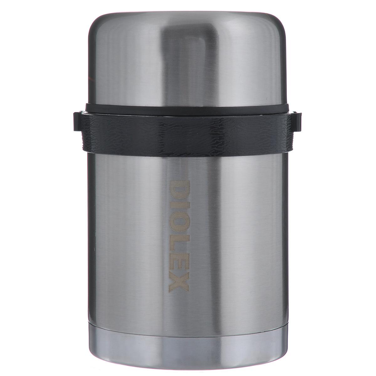 Термос Diolex, 0,8 л. DXF-800-1115510Термос Diolex изготовлен из высококачественной нержавеющей стали. Он имеет небьющуюся двойную внутреннюю колбу и изолированную крышку. Съемный ремешок для переноски делает использование термоса легким и удобным.Термос сохраняет напитки и продукты горячими в течение 12 часов, а холодными в течение 24 часов. Легкий и прочный термос Diolex идеально подойдет для транспортировки и путешествий. Высота термоса (с учетом крышки): 18 см. Диаметр основания: 10 см. Объем термоса: 0,8 л. Материал: нержавеющая сталь, пластик, текстиль.
