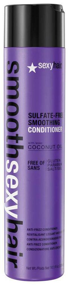 Sexy Hair Кондиционер для волос Sulfate-Free Smoothing Conditioner, разглаживающий, 300 млSM-38CON10Преобразуют пушащиеся, волнистые и кудрявые волосы в гладкие мягкие блестящие. Разглаживает кутикулу, придавая максимальный блеск. Не содержит сульфатов, клейковины, парабенов и солей. Обеспечивает гладкость, мягкость, блеск и баланс влаги. Сохраняет стойкость кератинового и химического выпрямления, работает на наращённых волосах. Кокосовое масло помогает бороться с пушистостью и достигать максимально гладких результатов на продолжительное время. Укрепляет и защищает волосы от повреждений и ломкости. Товар сертифицирован.