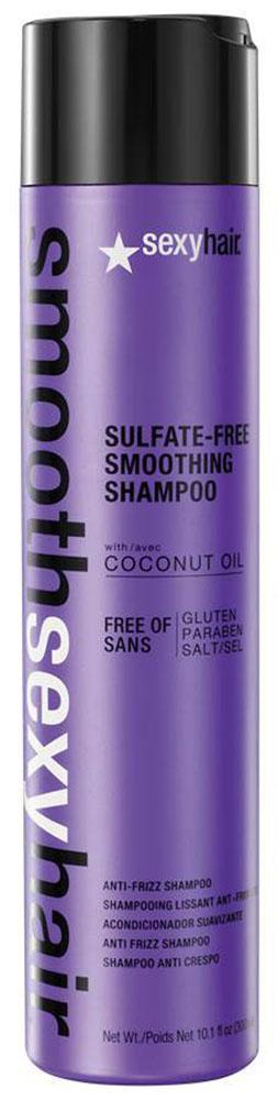 Sexy Hair Шампунь для волос Sulfate Free Smoothing Shampoo, разглаживающий, 300 млMP59.4DПреобразует пушащиеся, волнистые и кудрявые волосы в гладкие, мягкие и блестящие. Не содержит сульфатов, клейковины, парабенов и солей. Обеспечивает гладкость, мягкость, блеск и баланс влаги. Сохраняет стойкость кератинового и химического выпрямления, работает на наращённых волосах. Кокосовое масло помогает бороться с пушащимися волосами, придавая им гладкость, предотвращает открытие кутикулы и излишние трение волос, отталкивает влагу. Товар сертифицирован.