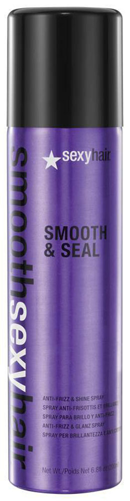 Sexy Hair Спрей для волос Smooth & Seal, разглаживающий, 225 млFS-00897Невесомый спрей для всех типов волос. Избавляет от пушистости, придает блеск, увлажняет волосы, блокирует проникновение влаги извне. Предотвращает пушение волос, сглаживает кутикулу, усиливая блеск волос, защищает цвет волос от выгорания под воздействием UVA/UVB лучей.