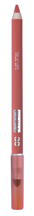 PUPA Карандаш для губ с аппликатором True Lips Pencil тон №30 абрикосовый, 1.2 гУТ000000765Контурный карандаш для губ с аппликатором для растушёвки True Lips очерчивает губы, придавая им контур, с помощью яркого насыщенного цвета. Мягкая, пластичная и очень приятная текстура позволяет идеально прорисовывать контур губ. Очень легко наносится и даёт возможность двойного применения:- самостоятельное использование карандаша на всей поверхности губ для создания изысканного матового эффекта.- применение карандаша перед нанесением помады для увеличения её стойкости. Цветовая гамма состоит из 16 восхитительных оттенков, которые идеально подходят для одновременного применения с помадами Im.