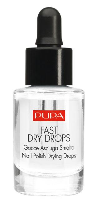"""PUPA Быстрая сушка лака Fast Dry Drops, 7 мл230007100Fast Dry Drops - Жидкость для сушки лака.Идеальный маникюр за одно мгновение? Fast Dry Drops высушит поверхностный слой лака за 60 секунд, полное высыхание наступает через несколько минут. Специальная формула повышает прочность лака и не пачкает ногти, обеспечивает безукоризненный результат! Арахисовое масло и витамин Е даёт ревитализирующуий эффект: лак становится идеально блестящим, средство питает и увлажняет кутикулу. Практичный дозатор гарантирует быстрое и точное нанесение. Подходит для всех лаков и средств серии """"Нэил арт"""" Pupa"""