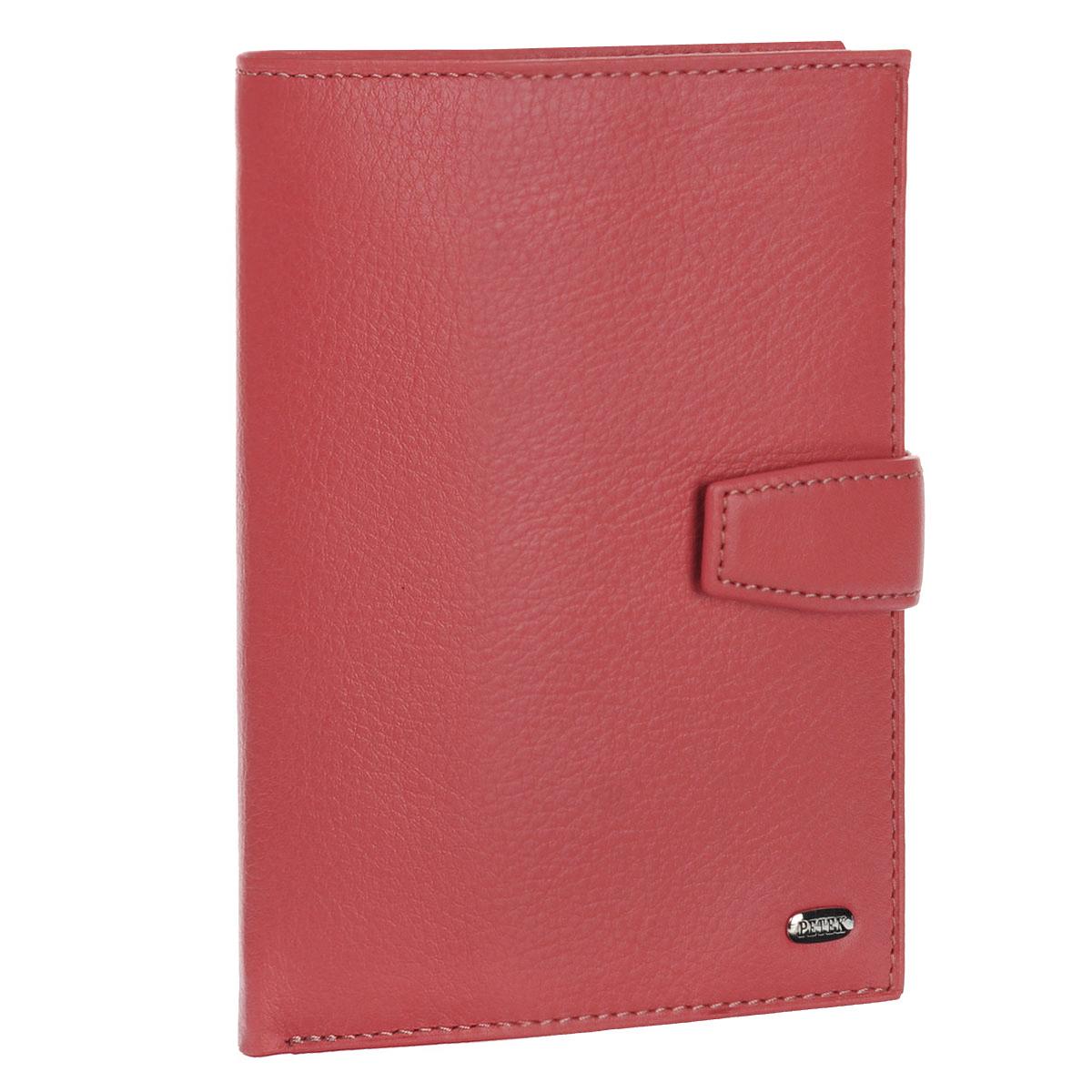 Обложка для паспорта и автодокументов Petek, цвет: розовый. 596.167.64ABS-14,4 Sli BMCОбложка для паспорта и автодокументов Petek выполнена из натуральной кожи с гладкой поверхностью. Внутри состоит из отделения для паспорта, шести отделений из прозрачного пластика для автодокументов и двух сетчатых карманов. Также есть отделение для купюр. Обложка закрывается небольшим хлястиком на кнопку. Обложка упакована в фирменную коробку с логотипом фирмы.Такая обложка станет замечательным подарком человеку, ценящему качественные и практичные вещи.