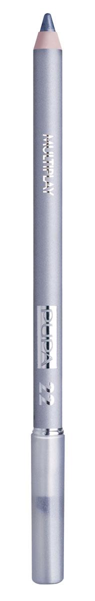 PUPA Карандаш для век с аппликатором Multiplay Eye Pencil, тон 22 серебряный , 1.2 г28032022Pupa Multiplay - карандаш для глаз 3 в 1. Сочетает в себе эффект карандаша для глаз для интенсивного цвета, эффект подводки и эффект теней для век. В состав карандаша входит масло жожоба, витамин Е и масло семени хлопчатника для защитного и успокоительного эффекта. Исключительная кремообразная текстура и латексный аппликатор обеспечивают легкое и безупречное нанесение. Характеристики:Вес: 1,2 г. Тон: №22. Производитель: Италия. Артикул: 244022. Товар сертифицирован. Pupa - итальянский бренд, принадлежащий компании Micys. Компания была основана в 1970-х годах в Милане и стала любимым детищем семьи Гатти. Pupa - это декоративная косметика для тех, кто готов экспериментировать, создавать новые образы и менять свой стиль в поисках новых проявлений своей индивидуальности. Яркие цвета Pupa воплощают в себе особенное видение красоты как многогранного сочетания чувственности и эпатажа, нежности и дерзости, изысканности и простоты. Pupa не забывает и о здоровье, прежде всего - здоровье кожи. Составы косметики Pupa тщательно тестируются на безопасность для кожи и постоянно совершенствуются по мере появления новых научных разработок.