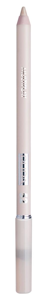 PUPA Карандаш для век с аппликатором Multiplay Eye Pencil тон 52 Бледный бежевый,1,2 гр.244052Контурный карандаш для глаз Multiplay тройного действия с аппликатором для растушёвки подчёркивает взгляд с помощью интенсивного и однородного цвета, которой обладает безупречной стойкостью. Мягкая и очень пластичная текстура обеспечивает лёгкое и быстрое нанесение.