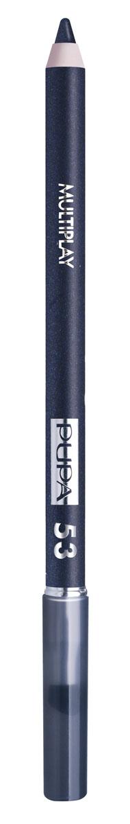 PUPA Карандаш для век с аппликатором Multiplay Eye Pencil тон 53 Полночный синий,1,2 гр.28032022Контурный карандаш для глаз Multiplay тройного действия с аппликатором для растушёвки подчёркивает взгляд с помощью интенсивного и однородного цвета, которой обладает безупречной стойкостью. Мягкая и очень пластичная текстура обеспечивает лёгкое и быстрое нанесение.