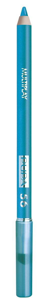 PUPA Карандаш для век с аппликатором Multiplay Eye Pencil тон 56 синий,1,2 гр.28032022Контурный карандаш для глаз Multiplay тройного действия с аппликатором для растушёвки подчёркивает взгляд с помощью интенсивного и однородного цвета, которой обладает безупречной стойкостью. Мягкая и очень пластичная текстура обеспечивает лёгкое и быстрое нанесение.