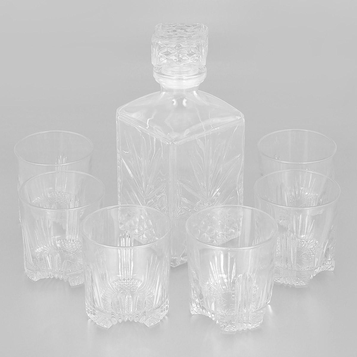 Набор Bormioli Rocco Selecta: графин с крышкой, 6 стаканов226041S1A021990Набор Bormioli Rocco Selecta, выполненный из высококачественного стекла, состоит из графина с крышкой и шести стаканов. Предметы набора предназначены для подачи воды, сока, лимонада и других напитков. Благодаря такому набору пить напитки будет еще вкуснее.Набор Bormioli Rocco Selecta идеально подойдет для сервировки стола и станет отличным подарком к любому празднику.