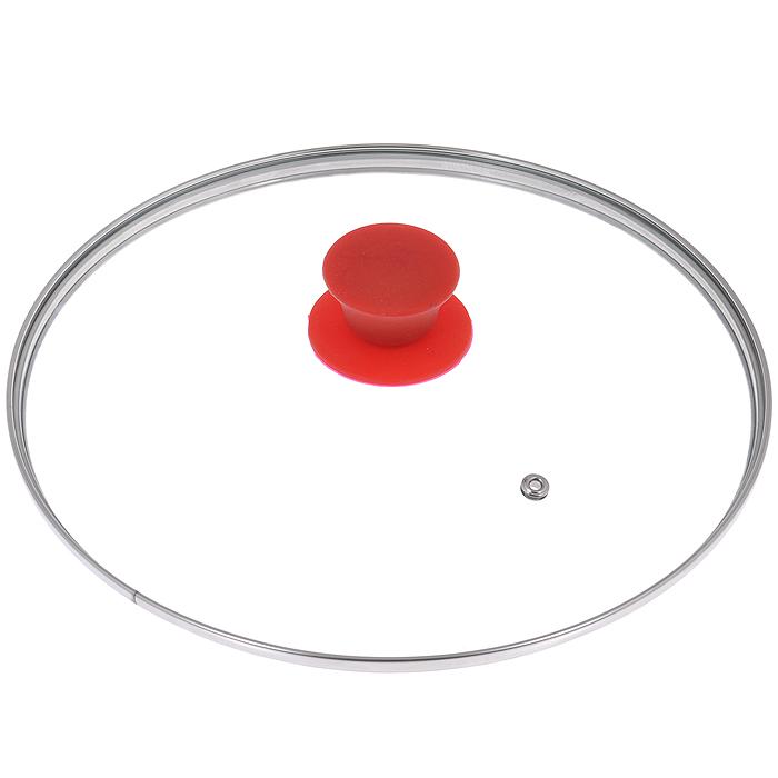 Крышка стеклянная Jarko Silk, цвет: красный. Диаметр 26 смКС*GTL24110 SilkКрышка Jarko Silk, изготовленная из термостойкого стекла, позволяет контролировать процесс приготовления пищи без потери тепла. Ободок из нержавеющей стали предотвращает сколы на стекле. Крышка оснащена пароотводом. Эргономичная силиконовая ручка не скользит в руках и не нагревается в процессе приготовления пищи.